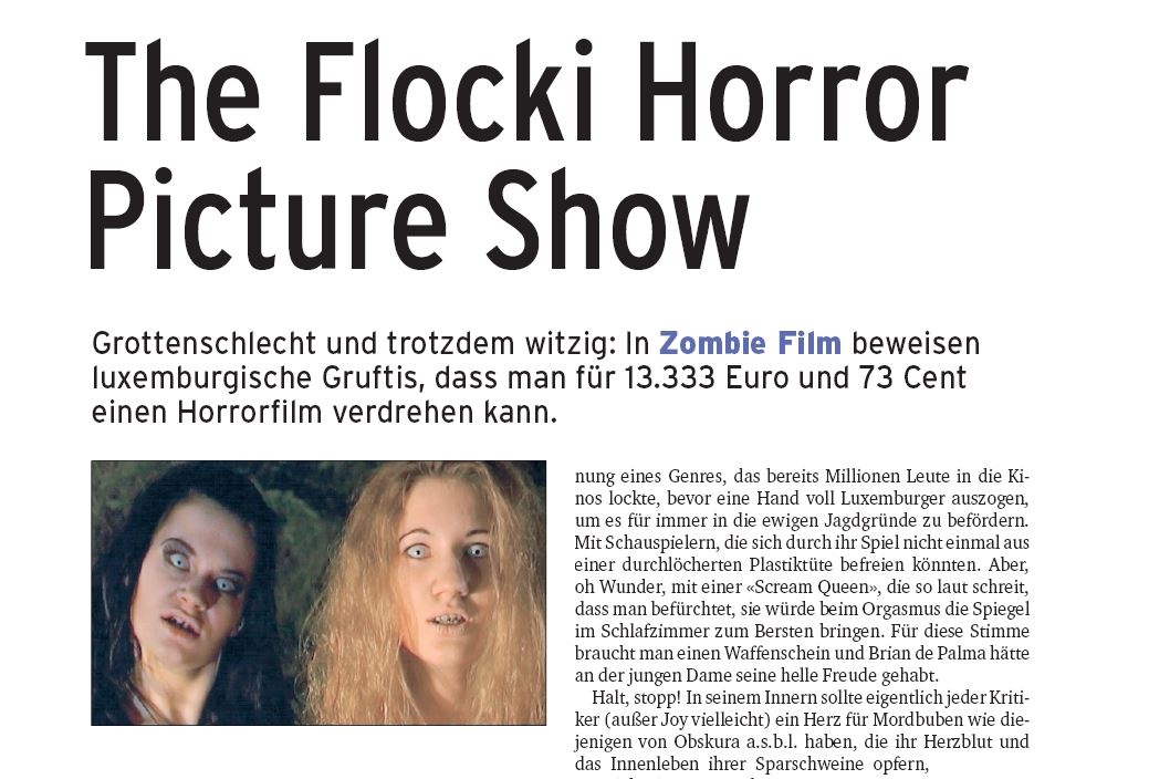 Filmkritik : De Jean-Pierre Thilges (Revue) wor sech den Zombie Film ukucken
