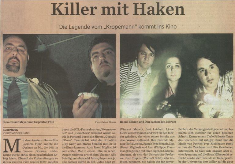 Filmkritik : De Christian Spielmann (Journal) wor sech de Kropemann ukucken